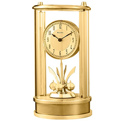 Bulova Clocks The The Isabel Clock, Polished/Satin Gold Finish -  B8820