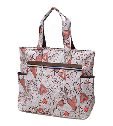 b0e5821e6a41 Nylon Large Lightweight Tote Bag Shoulder Bag for Gym Hiking Picnic Travel  Beach Waterproof Tote Bags