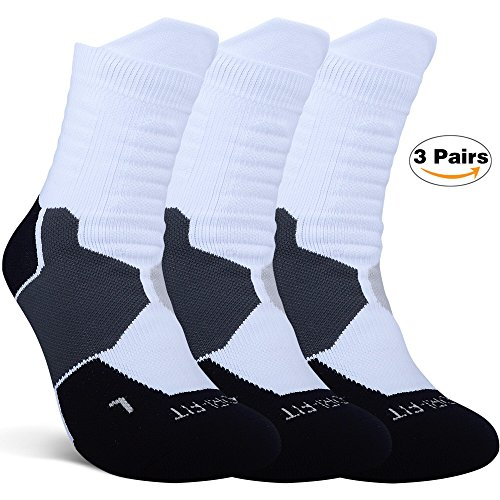 fan products of Thick Protective Sport Socks Mixed Color Cushioned Elite Basketball Compression Athletic Outdoor Crew Socks for Men Women Boys Girls US size 7~13