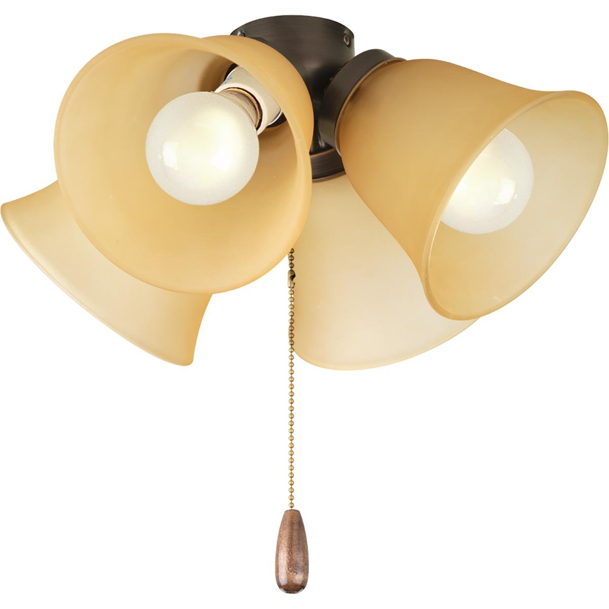 Progress Lighting P2643-20TWB Fan Light Kit, Antique Bronze