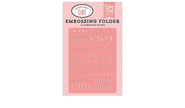 Pink Yellow Orange Teal Echo Park Paper Company Baby Pin Embossing Folder Purple