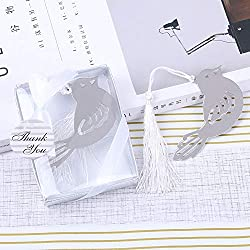 Creative Bookmark Souvenir Wedding Bookmark Favors Gift,Cross/Butterfly/Angel/Crown/Love Design Bookmark Favors (96pcs, Bird)