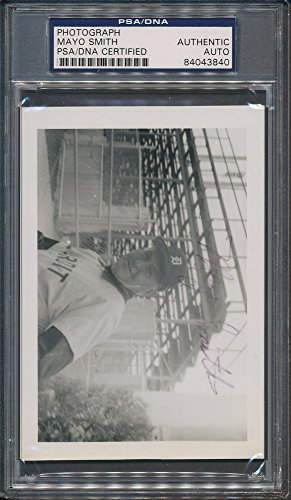 Mayo Smith Signed Photograph - PSA/DNA Certified Certified Certified Auto Autograph (Mayo Autograph)
