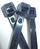 7'' UV BLACK NYLON WIRE CABLE ZIP TIES TIE WRAP, USA, Qty 1000