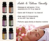 Aromatherapy-Floral-100-Therapeutic-Grade-Essential-Oils-Gift-Set-10-ml-each-Rose-Lavender-Jasmine-Ylang-Ylang-Geranium-Neroli
