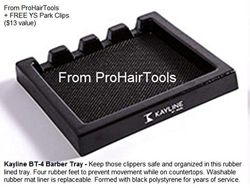 Kayline NEW BT-4 Barber Tray, Salon Clipper Organizer + Free YS Park L-Clips ($13 value) from ProHairTools