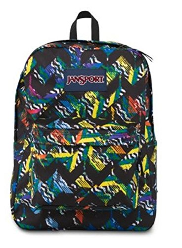 Brand New JANSPORT BACKPACK SUPERBREAK MULTI RUSH CURCUIT PADDED SHOULDER STRAP by JanSport