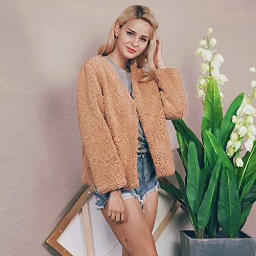 Automne Manteau Long Outerwear Mode Court Femme Manches Hiver Art Fourrure AqOEUT