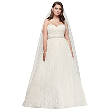 Sample As Is Sweetheart Plus Size Lace Wedding Dress Style