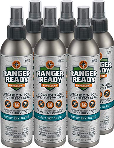 Ranger Ready Repellents Picaridin 20% Tick + Insect Repellent Commercial Pack | Night Sky Scent | 6X 235ml/8.0oz by Ranger Ready Repellents