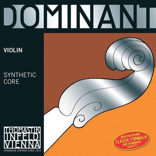 Thomastik Infeld Dominant Violin String Set with Wound E String Ball End - 1/4 Size - Medium Gauge