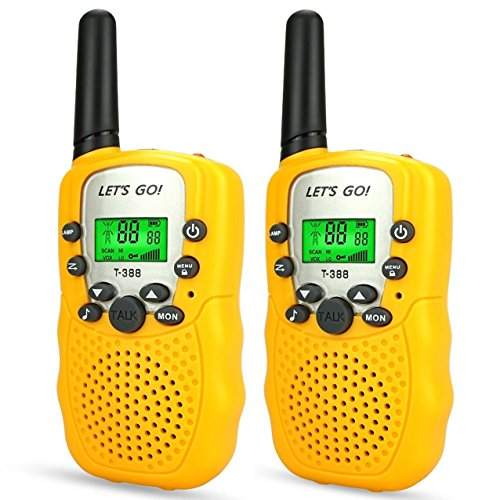 DIMY Boys Games Age 3-12, Walkie Talkies for Kids Toys for 3-12 Year Old Boys Girls 3-12 Year Old Girl Gifts New Gifts for Boys Girls Kids Yellow DJ83 -