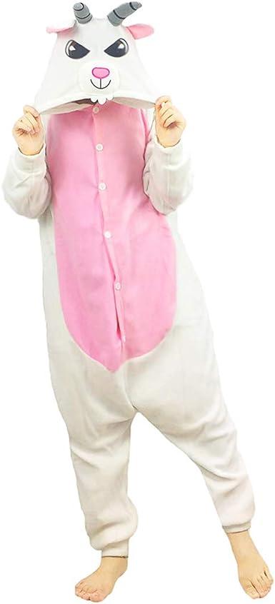 FORLADY Pijama de Cabra Disfraz de Cosplay para Adultos ...