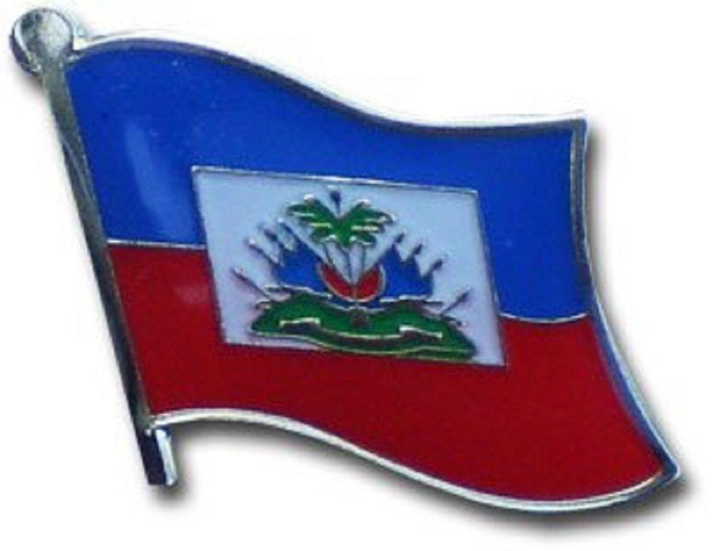 Wholesale Pack of 12 Haiti Country Flag Bike Hat Cap lapel Pin