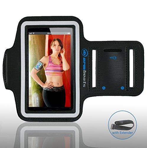 Price comparison product image Sports Armband for iPod Touch 5th Generation and iPhone 5,  5s,  5c,  4,  4s by Armbeats,  with Free 8 inch Armband Extender,  Key Holder and Reflective Surround