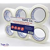 """Tape Co. Heavy-Duty Clear Packing Tape for Shipping, Moving, Office & Storage - 3.2mil Thick, 2-inch x 60 Yards Per Roll. (6 Rolls (60yd./ 2""""Wide))"""