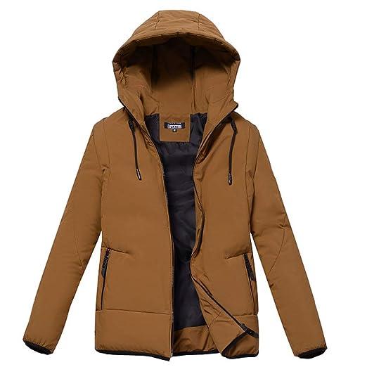 155411765 FLY HAWK Men's Down Jacket Lightweight Hooded Puffer Down-Filled Jacket  Outerwear for Winter Outdoor Sports