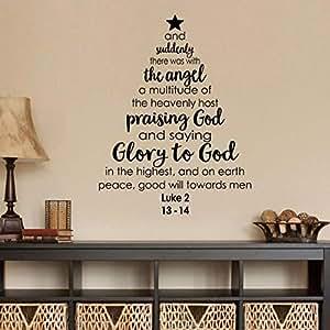 Amazon.com: Christmas Tree Wall Decal Bible Verse Saying ...