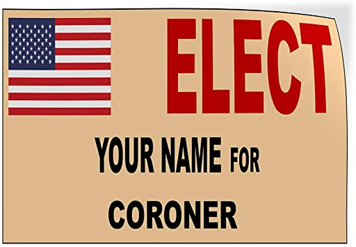 Custom Door Decals Vinyl Stickers Multiple Sizes Elect Name for Position Blue White Black Political Elect Signs Outdoor Luggage /& Bumper Stickers for Cars White 54X36Inches Set of 2