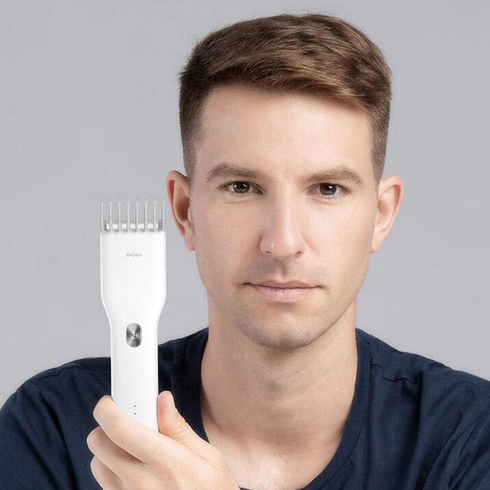 YYSDH 2020 Hair Clipper Trimmer Eléctrico USB Cortador De Pelo De Cerámica De Carga Rápida del Pelo De Los Hombres del Condensador De Ajuste De Las Podadoras De Navidad Longitud Ajustable,Negro