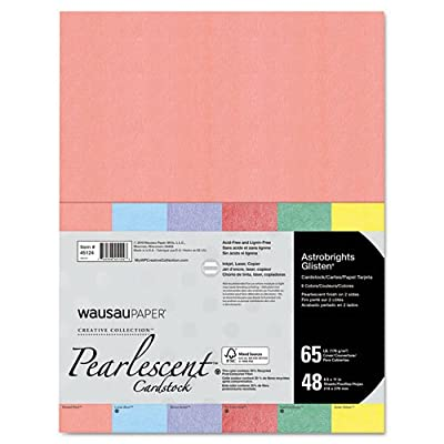 Neenah Paper Astrobrights Glisten Pearlescent Colored Paper, 65lb, 8-1/2 x 11, 48 Sheets/Pack
