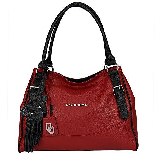 NCAA Oklahoma Sooners Jet Set Academic Handbag, Small by Sandol