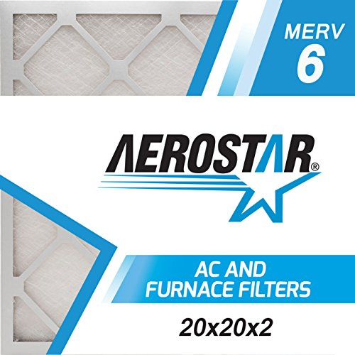 20x20x2 AC and Furnace Air Filter by Aerostar - MERV 6, Box of 12