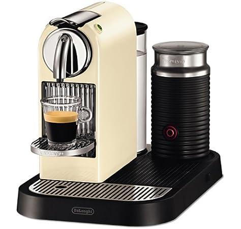 DeLonghi Nespresso Citiz & Milk White EN265CWAE - Cafetera monodosis (19 bares, preparación manual cappuccino, modo ahorro energía), color crema: Amazon.es: Hogar