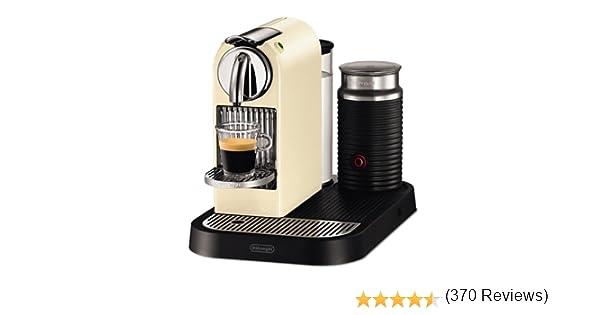 DeLonghi Nespresso Citiz & Milk White EN265CWAE - Cafetera monodosis (19 bares, preparación manual cappuccino, modo ...