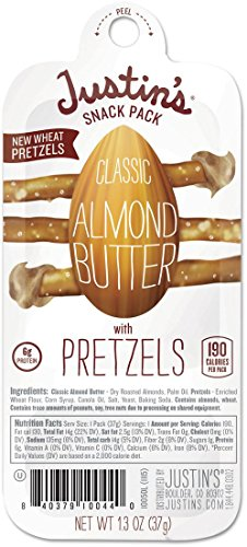 Snack Packs, Classic Almond Butter w/Pretzels, 1.3 oz Pack, 6/Box (Classic Almond Butter)