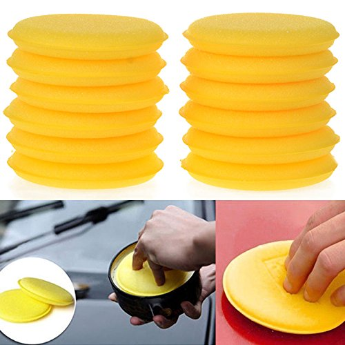 12 Pcs Voiture Cirer Eponges Mousse Polissage Cire Applicateur Tampons