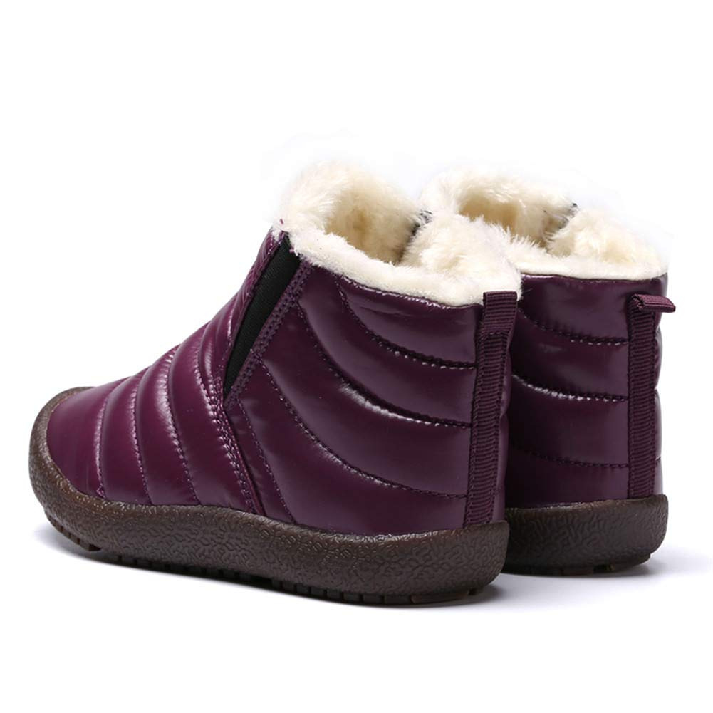Botas Niño Invierno Forrado Calentar Botas de Nieve para Niños Botines Niña  Planos Zapatos Al Aire 8c3e99d6faa