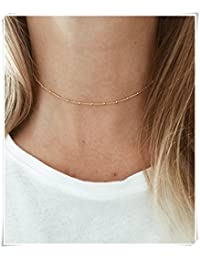 Gold Beaded Choker /Satellite Chain Choker