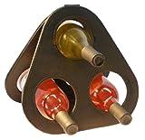 Wine Rack Prism Leather 3 - Bottle Wine Counter Rack