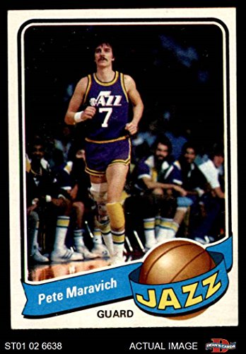 (1979 Topps # 60 Pete Maravich Utah Jazz (Basketball Card) Dean's Cards 6 - EX/MT Jazz)