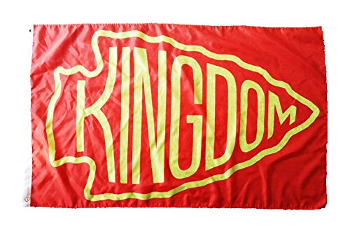 FanaticFan4Life Chiefs Kingdom Flag 3x5 Kansas City Chiefs Flag KC Chiefs