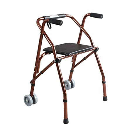 MyAou-Andadores Walker Belt Wheel con Asiento Old Man Walker ...