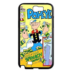 Samsung Galaxy N2 7100 Cell Phone Case Black Popeye the sailor vkb