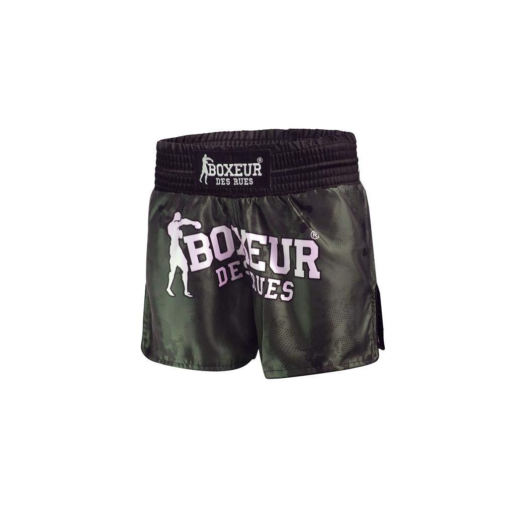 BOXEUR DES RUES Serie Fight Activewear, Pantaloncini Camouflage da Kick/Thai Uomo BXT-1785