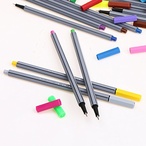Colorful Pen Art Fine Professional Watercolor Pens Art Office Painting by Office & School Supplies YingYing (Image #4)
