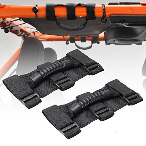 Maniglia Kit Barra Grab Handle Porte Roll Bar Barra Stabilizzatrice per Wrangler YJ TJ JK Sports Sahara Freedom Rubicon Unlimited 2 Pcs SUPAREE