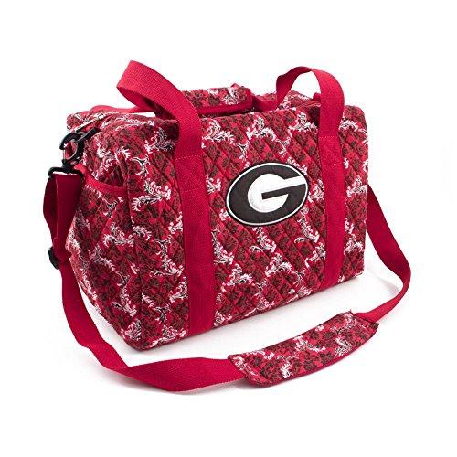 Eagles Wings Georgia Bulldogs UGA Duffel Bag Bloom Quilted Mini Travel Bag ()