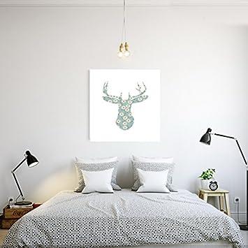 Tupped Tm Modern Hirschkopf Leinwand Poster Bilder Auf Der Wand