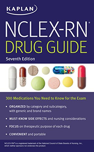NCLEX-RN Drug Guide: 300 Medications You Need to Know for the Exam (Kaplan Test Prep)