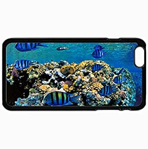 Fashion Unique Design Protective Cellphone Back Cover Case For iPhone 6 Plus Case Fish Black