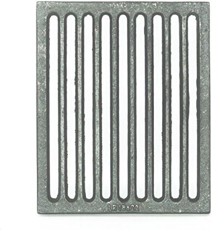 K6877. Rejilla de hierro fundido para estufa y chimenea de 400 x 230 mm