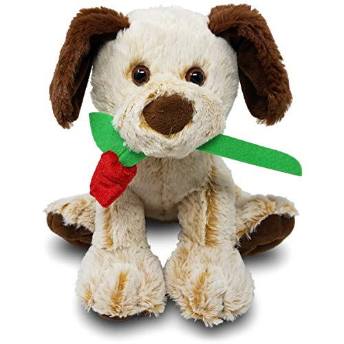 Colonel Pickles Novelties Stuffed Animals Dog with Rose - Boyfriend Or Girlfriend Gifts