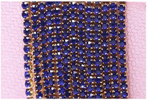 Healifty ラインストーン クローチェーン DIY トリミング 縫製 ジュエリークラフ トロージー 10m