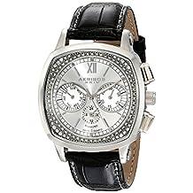 Akribos XXIV Men's AKR462SS Grandoise Multi Function Diamond Swiss Quartz Square Watch
