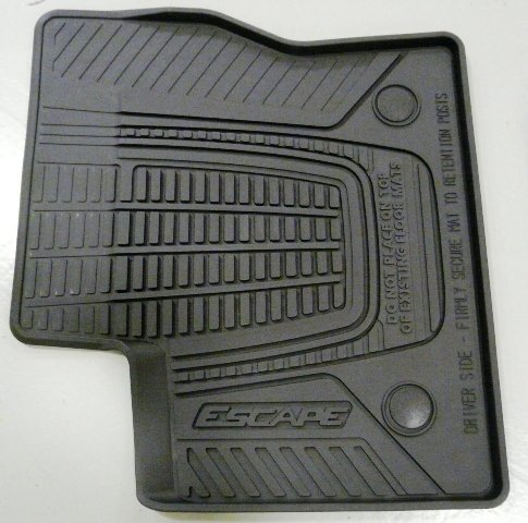 Oem Stock Factory 2013 2014 2015 Ford Escape Weather Floor Vinyl Mats Black 4 Pc Set by Ford (Image #1)